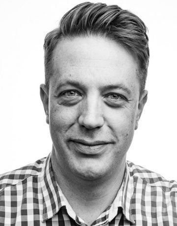 corporate portrait of smiling executive