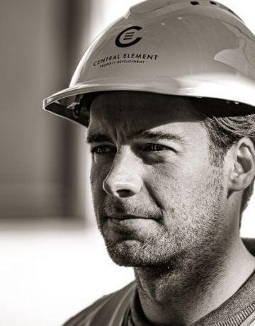 Engineer on building site