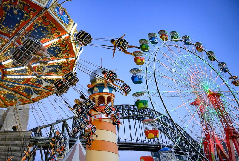 Luna Park Sydney Volare new ride